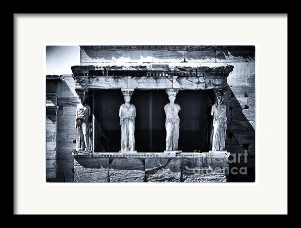 Porch Of The Caryatids Framed Print By John Rizzuto