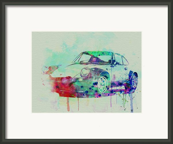 Porsche 911 Watercolor 2 Framed Print By Naxart Studio