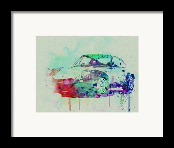 Porsche 911 Watercolor 2 Framed Print By Naxart Studio