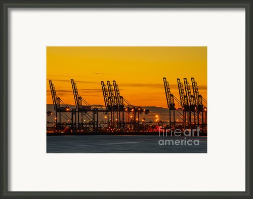 Port Of Felixstowe Framed Print By Svetlana Sewell