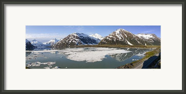 Portage Lake Panorama Framed Print By Tim Grams