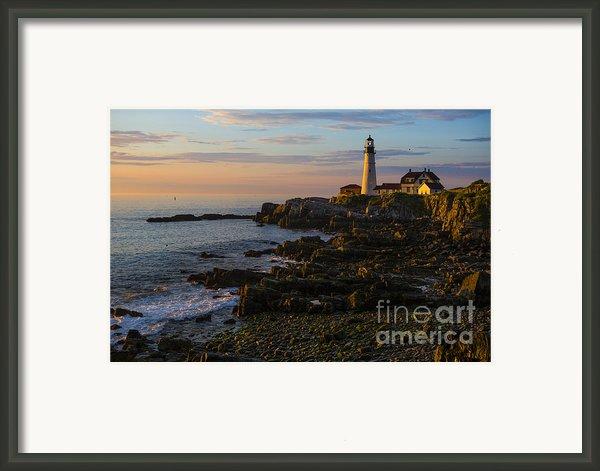 Portland Head Lighthouse At Dawn Framed Print By Diane Diederich