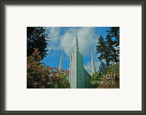 Portland Oregon Lds Temple Framed Print By Nick  Boren