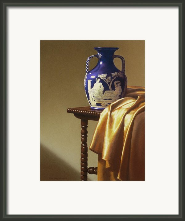 Portland Vase With Cloth Framed Print By Barbara Groff