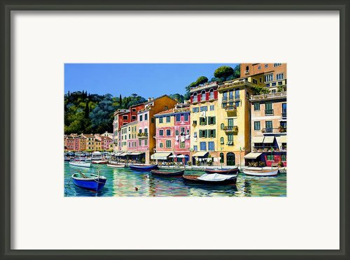 Portofino Sunshine Framed Print By Michael Swanson