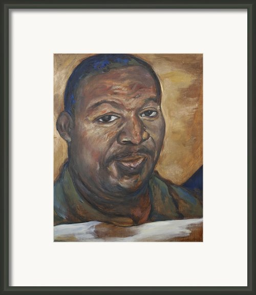 Portrait Of A Saint Ii Framed Print By Sharon Norwood