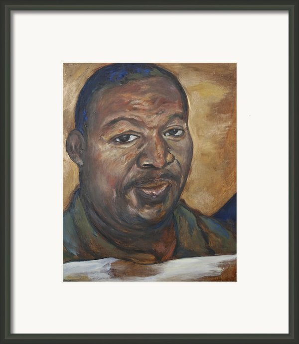 Portrait Of A Saint Ii Framed Print By Sharon Norwood