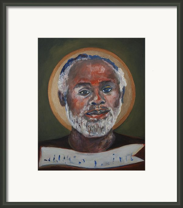 Portrait Of A Saint V Framed Print By Sharon Norwood