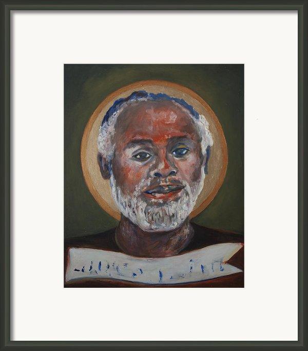 Portrait Of A Saint V Framed Print By Sharon Norwood