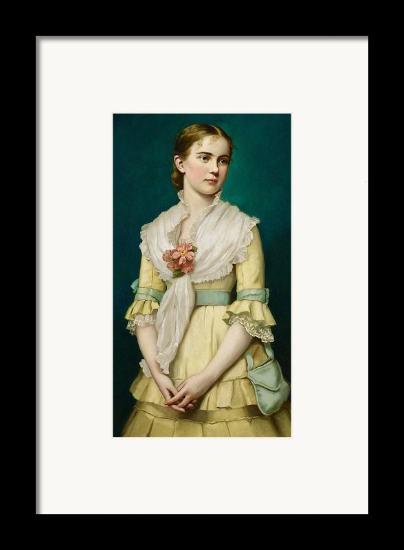 Portrait Of A Young Girl Framed Print By George Chickering Munzig
