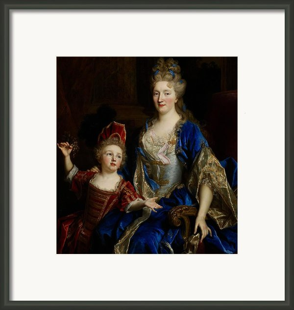 Portrait Of Catherine Coustard Framed Print By Nicolas De Largilliere