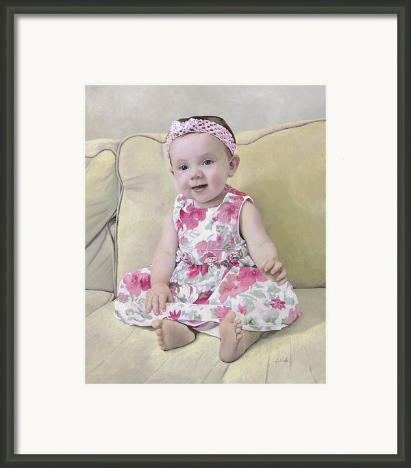 Portrait Of Maddie Framed Print By Guido Borelli