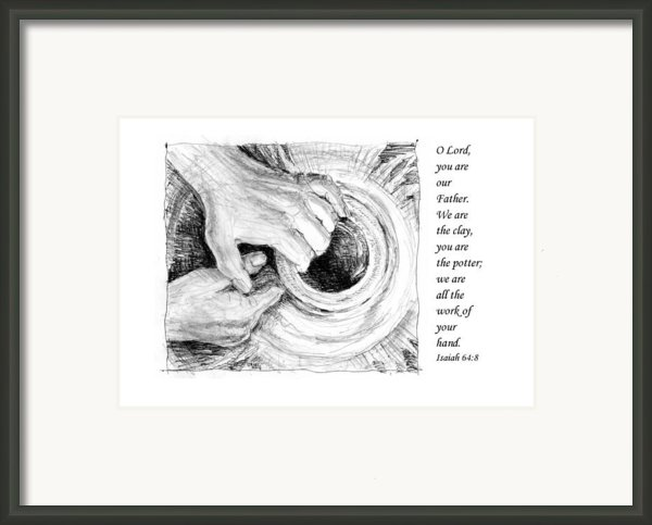 Potter And Clay Framed Print By Janet King