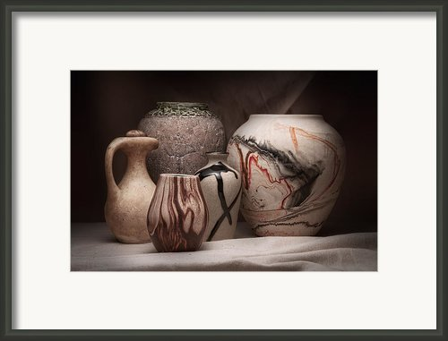 Pottery Still Life Framed Print By Tom Mc Nemar