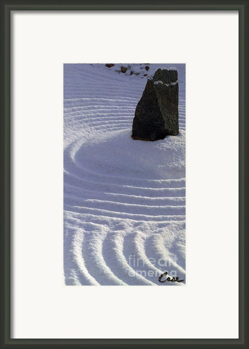 Powder In Zen One Framed Print By Feile Case