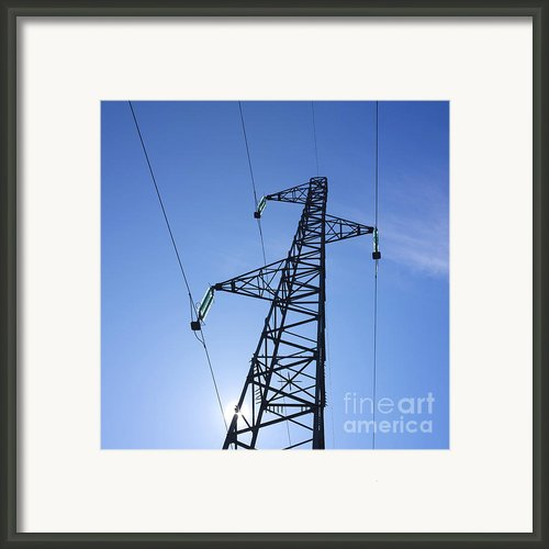 Power Pylon Framed Print By Bernard Jaubert