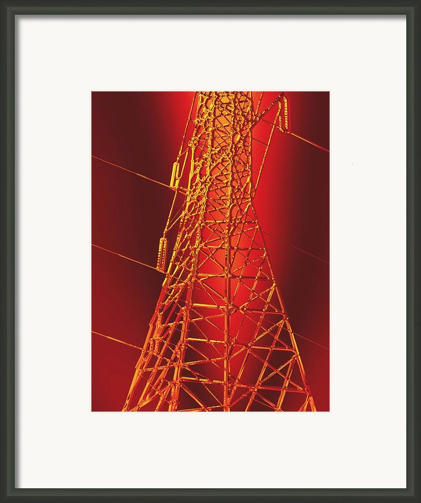 Power Station - Hot Framed Print By Wendy J St Christopher
