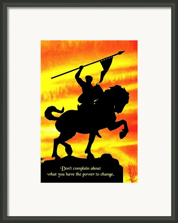 Power To Change Framed Print By Mike Flynn