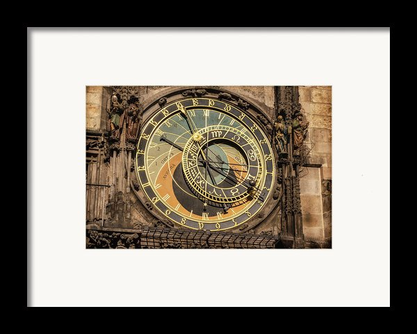 Prague Astronomical Clock Framed Print By Joan Carroll