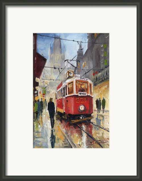 Prague Old Tram 07 Framed Print By Yuriy  Shevchuk