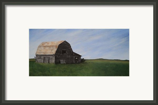 Prairie Barn Framed Print By Jesslyn Fraser