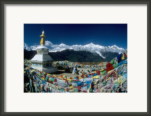 Prayer Flags Framed Print By James Brunker