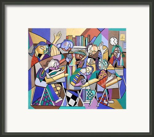 Prayer In School Framed Print By Anthony Falbo