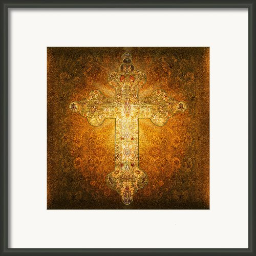 Precious Holy Cross Framed Print By Li   Van Saathoff