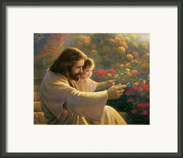 Precious In His Sight Framed Print By Greg Olsen