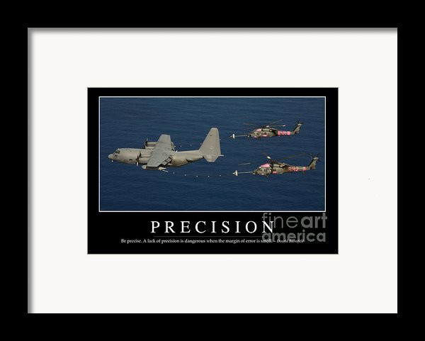 Precision Inspirational Quote Framed Print By Stocktrek Images