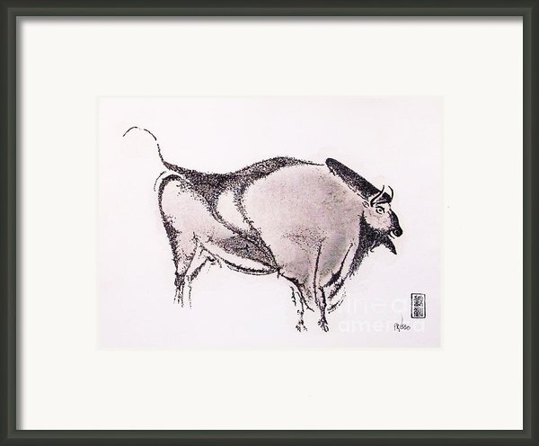 Prehistoric Bison Framed Print By Pg Reproductions
