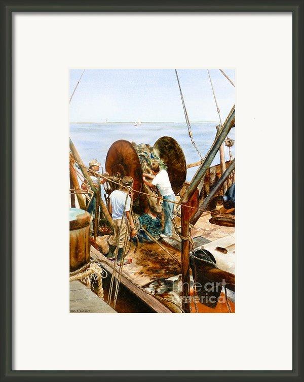 Preparing The Nets Framed Print By Karol Wyckoff