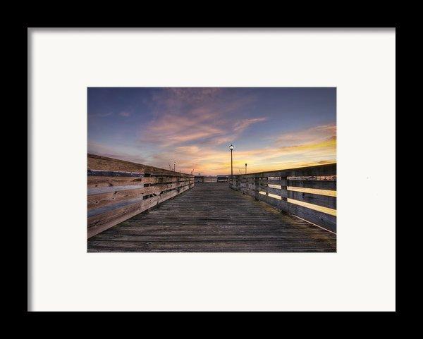 Prescott Park Boardwalk Framed Print By Eric Gendron