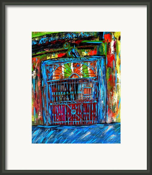 Preservation Hall Framed Print By Joann Wheeler
