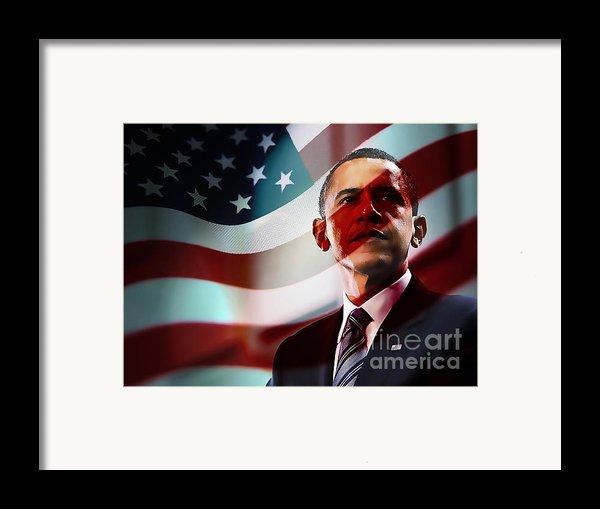 President Barack Obama Framed Print By Marvin Blaine