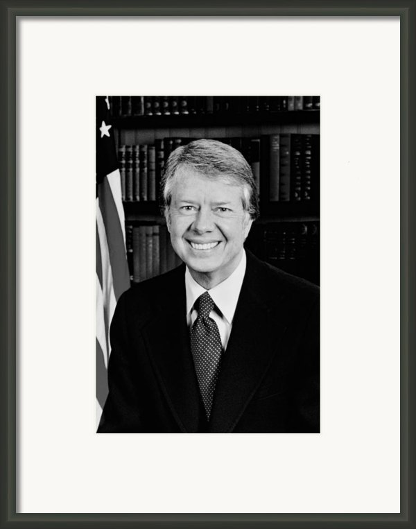 President Jimmy Carter  Framed Print By War Is Hell Store