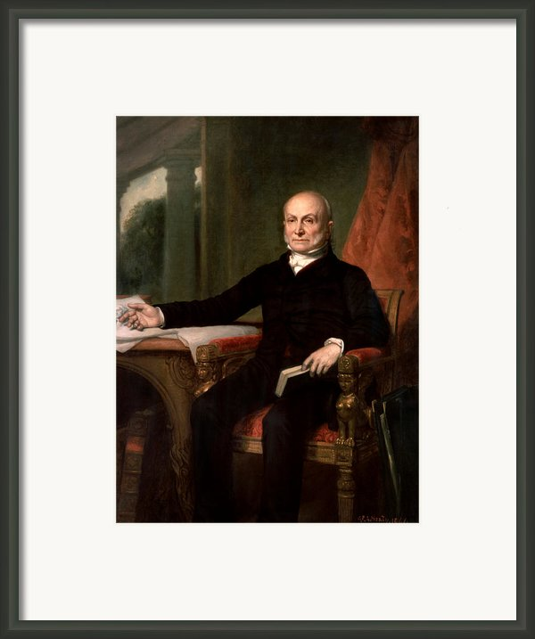 President John Quincy Adams  Framed Print By War Is Hell Store