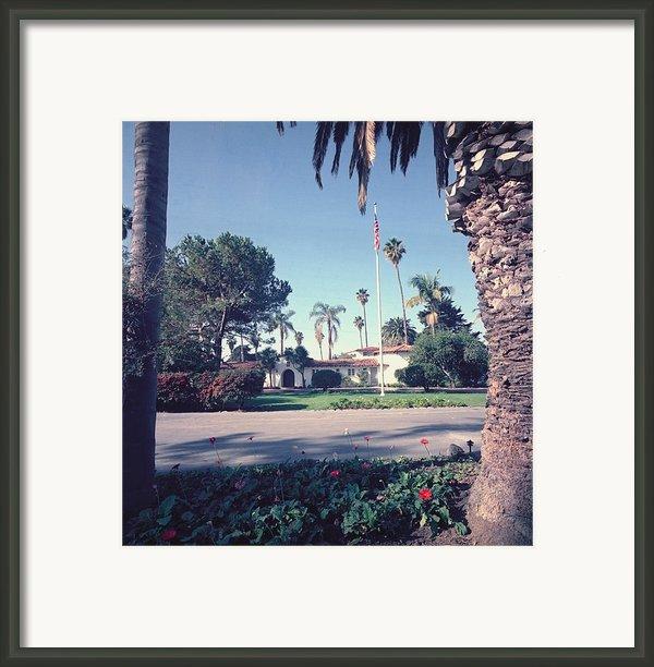 President Nixons Home In San Clemente Framed Print By Everett