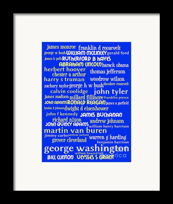 Presidents Of The United States 20130625 Framed Print By Wingsdomain Art And Photography