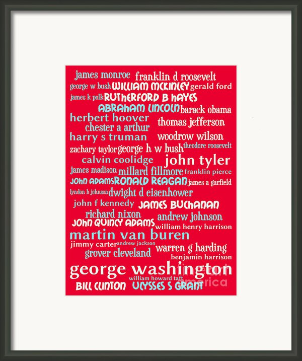 Presidents Of The United States 20130625p120 Framed Print By Wingsdomain Art And Photography