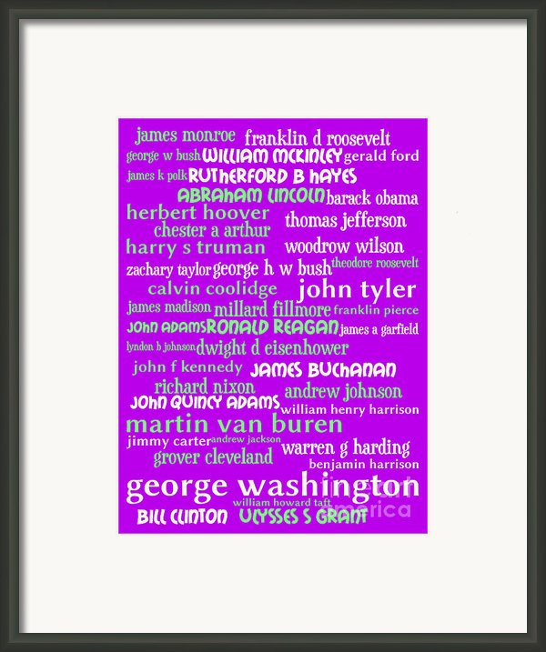 Presidents Of The United States 20130625p60 Framed Print By Wingsdomain Art And Photography