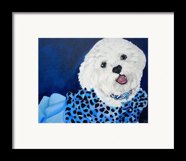 Pretty In Blue Framed Print By Debi Starr