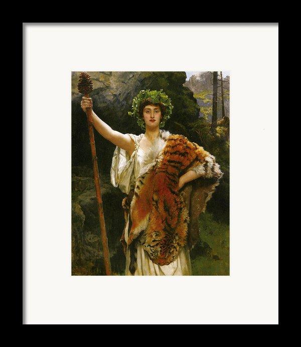 Priestess Bacchus Framed Print By John Collier
