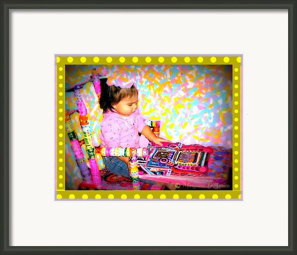 Princess Bella In The Original Magical Rocking Chair Framed Print By Maryann  Damico