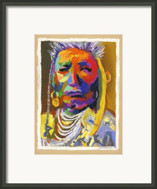 Proud Native American Framed Print By Stephen Anderson