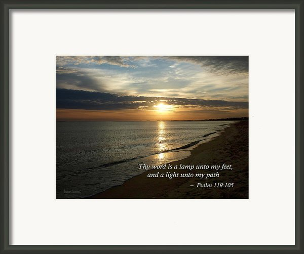 Psalm 119-105 Your Word Is A Lamp Framed Print By Susan Savad