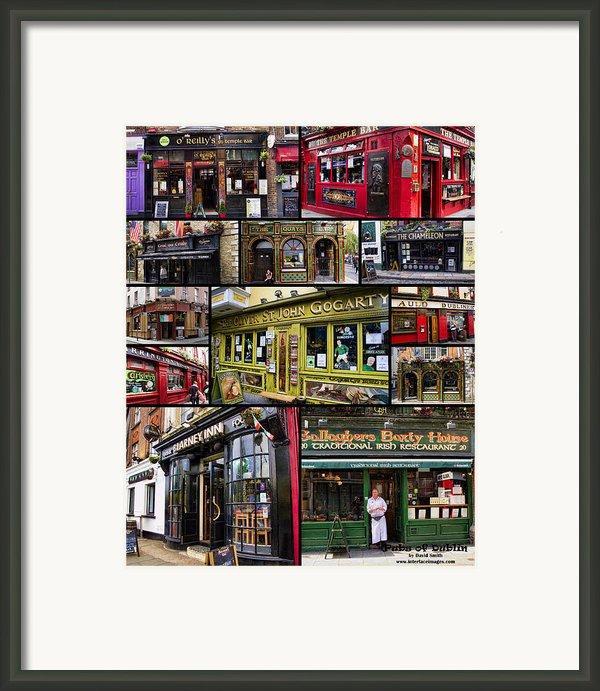 Pubs Of Dublin Framed Print By David Smith