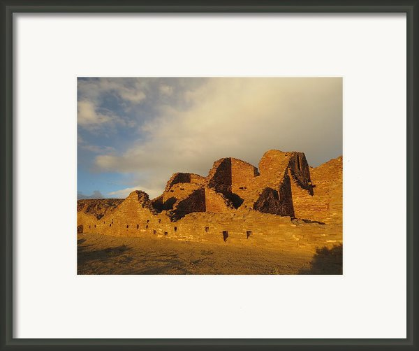 Pueblo Del Arroyo At Sunset Ii Framed Print By Feva  Fotos