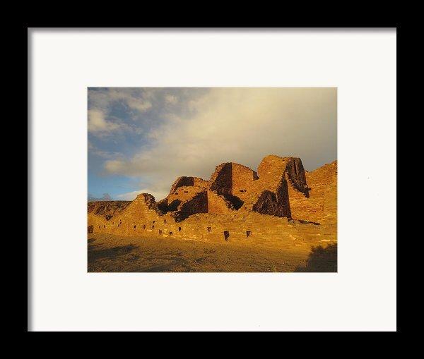 Pueblo Del Arroyo At Sunset Ii Framed Print By Feva  Fotos