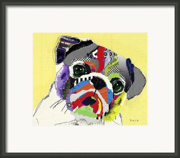 Pug Framed Print By Michel  Keck